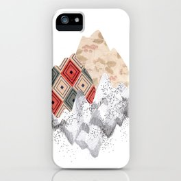 montañas collage iPhone Case