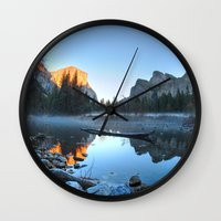 yosemite Wall Clocks featuring Yosemite by Kelly Moncure