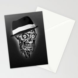 Elegant Skull with hat, B&W Stationery Cards