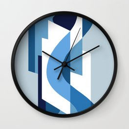 SUISSE - Art Deco Modern: BLUE MONDAY Wall Clock