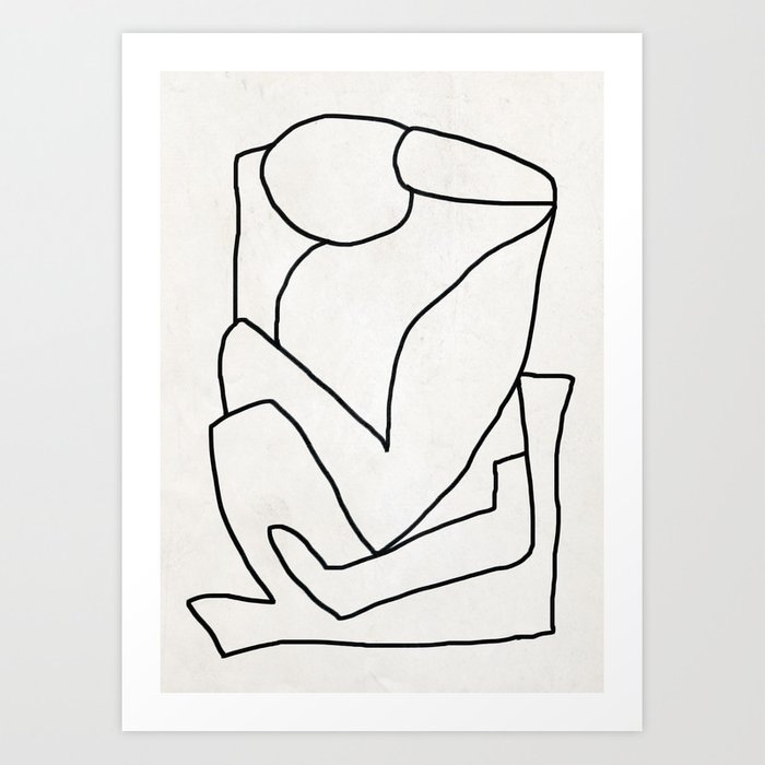 Abstract line art 2 Art Print
