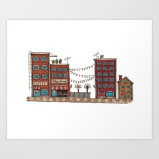 Life In The City Art Print