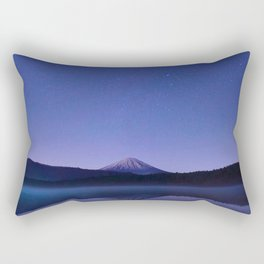 Purple Lilac Lullaby Japanese Mountains At Night Star Sky Relaxing Cozy Landscape Rectangular Pillow