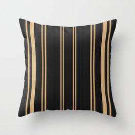 Bold Gold Black Lines Design Throw Pillow