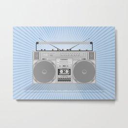 Boombox Metal Print