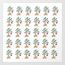 It's (not) such a lonely Christmas CB - Christmas Tree pattern Art Print