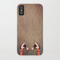 twins iPhone & iPod Cases featuring twins by Steffi Louis