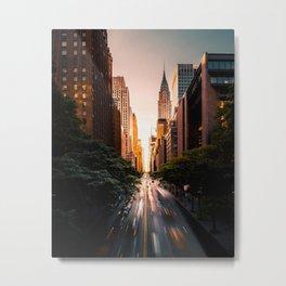 Sunset in Rush Hour at Tudor City New York Metal Print