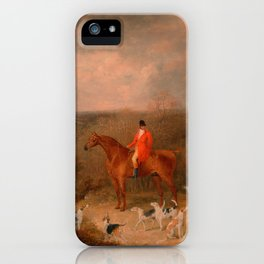 Hunting With Dogs and Horse Famous Oil Painting iPhone Case