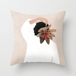 With a Flower Throw Pillow