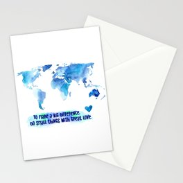 Small Things. Great Love. World Change. Stationery Cards