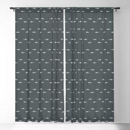 Sharks Pattern Blackout Curtain