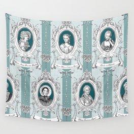 Science Women Toile de Jouy - Teal Wall Tapestry