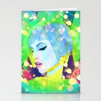 hayley williams Stationery Cards featuring Digital Painting - Hayley Williams - Variation 2 by EmmaNixon92