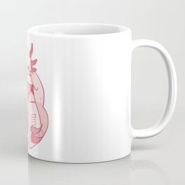 Axolotl Stawberry Milk Coffee Mug