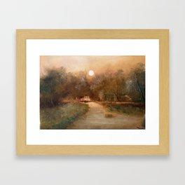 Impressionist Landscape Oil Painting Framed Art Print