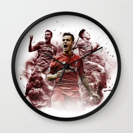 Liverpool FC: Philippe Coutinho cloud design Wall Clock