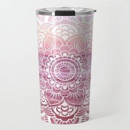 Water Mandala Pink Travel Mug