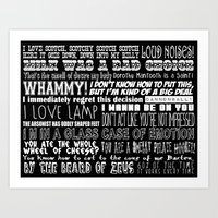 anchorman Art Prints featuring Anchorman Love by Jamizzle