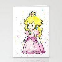 princess peach Stationery Cards featuring Princess Peach by Olechka