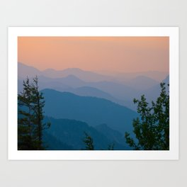 Complementary Mountains Art Print