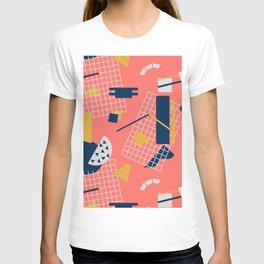 Neon Coral Memphis Toss - Limited Color Palette 2019 T-shirt