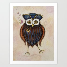 Captain Hooterbottom Owl Art Print