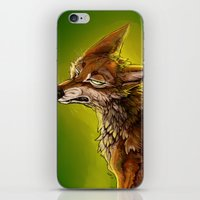 sassy iPhone & iPod Skins featuring Sassy Coyote by PuppyChowArts