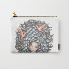 Claudette Head in the Clouds Carry-All Pouch