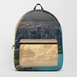 Panorama of Chicago Skyline Backpack