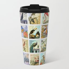 Birds of a Feather Postal Collage Travel Mug