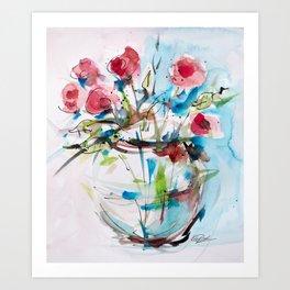 Roses (sketch) Art Print