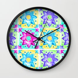 Colorful Pop Tiles Wall Clock