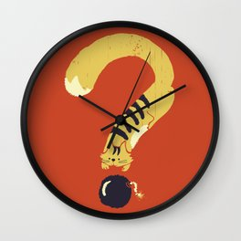 Question Mark (Curiosity Kills The Cat) Wall Clock
