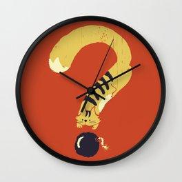 Question Mark (Curiosity Kills The Cat) Wall Clock