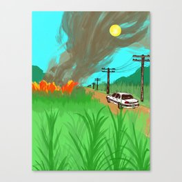 Sugar Cane Fires Canvas Print