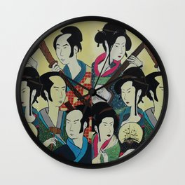 Japanese Beauties Wall Clock
