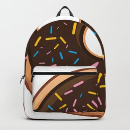 Delicious Chocolate Sprinkles Doughnut / Donut Backpack