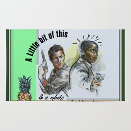 """""""A Little bit of this & a Whole Lot of That"""" - Psych Quotes Rug"""