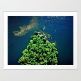 Archipelago Island - Aerial Photography Art Print