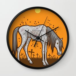 The Hangman's Horse Wall Clock