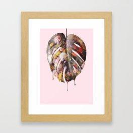 STILL LIFE MONSTERA Framed Art Print