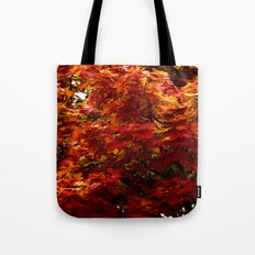 Autumn red tree Tote Bag