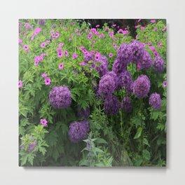 Field Of Violet Flowers Metal Print