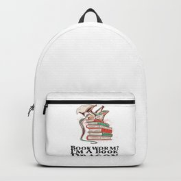 Books - Bookworm? I'm a book dragon Backpack