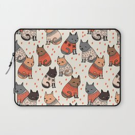 Sweater Cats - by Andrea Lauren Laptop Sleeve