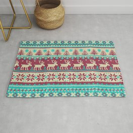 Ugly Christmas Sweater Digital Knit Pattern 2 Rug