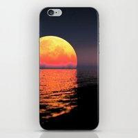 moonrise iPhone & iPod Skins featuring Moonrise by Tobias Bowman