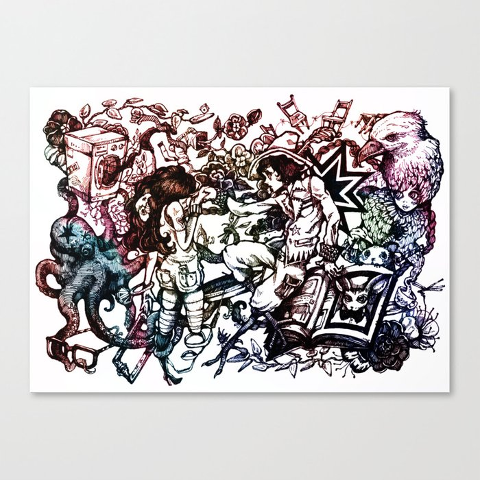 Domestic Parade Canvas Print
