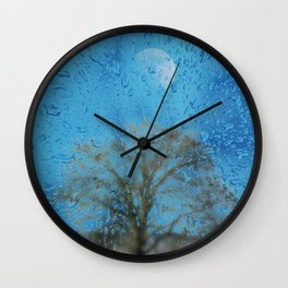Concept landscape : The lonely tree Wall Clock